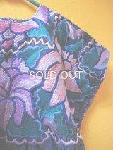 メキシコ刺繍民族ウィピルブラウス*ハンド刺繍/ネイビー*