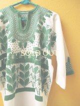 メキシコ刺繍ブラウス*チャムラ/ミルパ/カクタスグリーン*