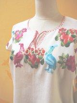 メキシコ刺繍ブラウス*ペリカン刺繍/白地*