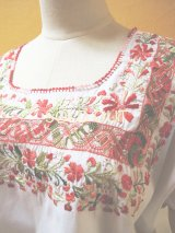 メキシコ刺繍ブラウス*サン・アントニーノ/ドロンワーク*
