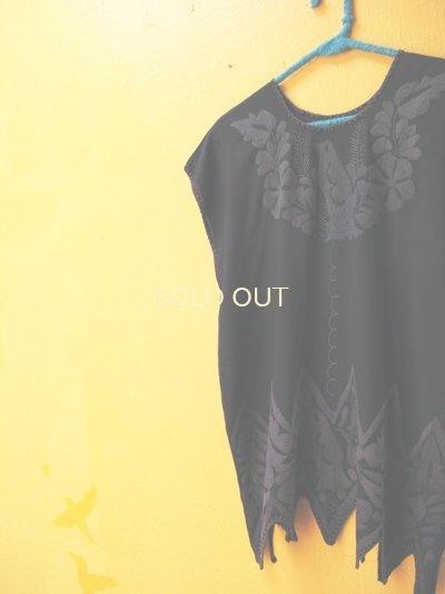 画像3: オアハカ州トゥクステペック刺繍ブラウス*ギザギザ裾*