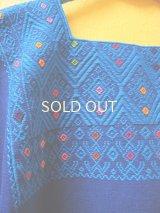 手織りウィピルブラウス*ララインサール/ブルー*