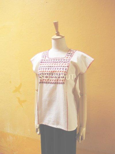 画像4: メキシコ刺繍ブラウス*チナンテコ/小さい動物刺繍*