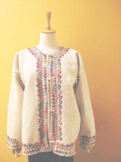 画像4: メキシコ刺繍ウールジャケット*チャムラ/カラフル/ナチュラル*
