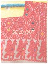 メキシコ手織り刺繍ウィピルブラウス*ララインサール/鳥模様/レッド*
