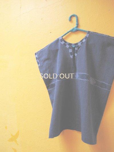 画像2: メキシコ手織り民族ウィピルブラウス*Magdalenas aldama/navy×shadow blue*