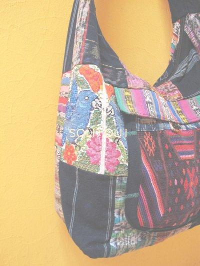 画像1: グアテマラ民族衣装パッチワークバッグ*chichicastenango*