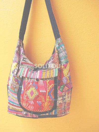 画像1: グアテマラ民族衣装パッチワークバッグ*san juan sacatepequez*