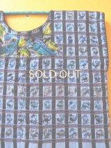 グアテマラ手織り民族衣装鳥刺繍ウィピルワンピース*ブルー/グラデーション*