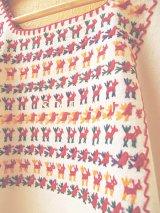 メキシコ刺繍ブラウス*チナンテコ/小さい動物刺繍*