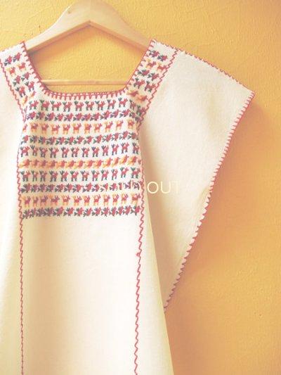 画像2: メキシコ刺繍ブラウス*チナンテコ/小さい動物刺繍*