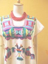 メキシコ刺繍ワンピース*オアハカ/huazolotitlan/鳥刺繍*