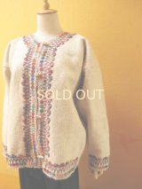 メキシコ刺繍ウールジャケット*チャムラ/カラフル/ナチュラル*