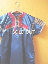 【SALE】40%off メキシコ刺繍民族チュニックブラウス*サンファン・チャムラ/ブルー*
