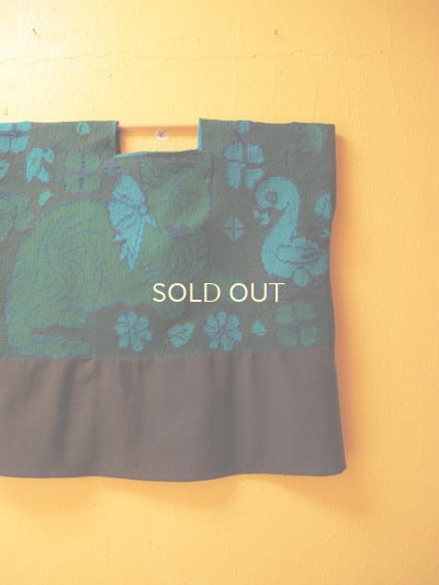画像4: メキシコ刺繍ウィピルブラウス*クロス刺繍/ネコ模様/シナカンタン*