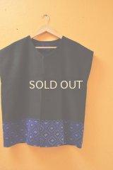 メキシコの民族刺繍巻きスカートのリメイクジャケット*幾何学刺繍*