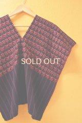 【SALE】40%offグアテマラ・ナワラの織り地ウィピル*ネコ模様*